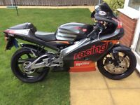 Aprilia RS125 Motorbike with race exhaust