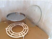 Microwave turntable glass plate & accessories