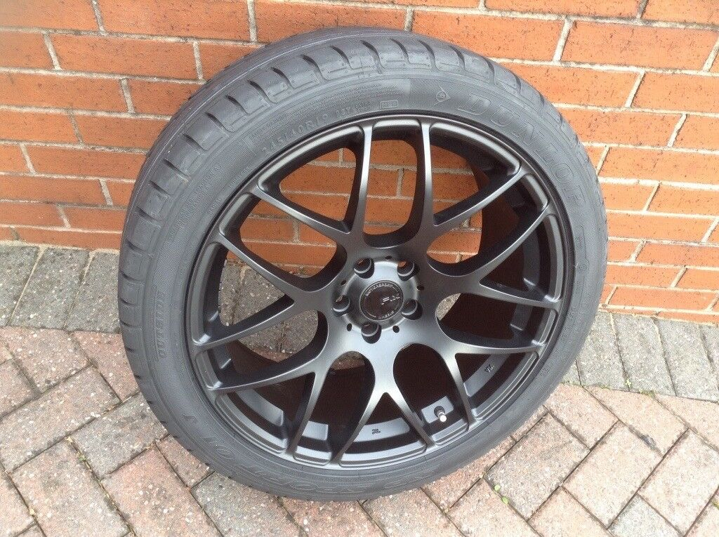 Brand new alloy wheel and tyre