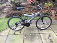 """Mountain Bike Bicycle 26"""" wheels, 18 gears, very good condition, newly serviced."""