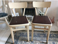 2 x 1950's/60's pretty little Kitchen Chairs