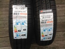 Two new Hankook 155/70R14 77T tyres