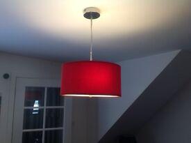 Red ceiling light...