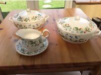 Duchess bone china vegetable tureens and gravy jug