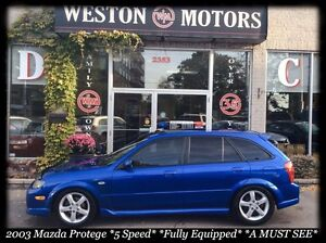 2003 Mazda Protege5 *5 SPEED *FULLY EQUIPPED *NICE SHAPE *A MUST
