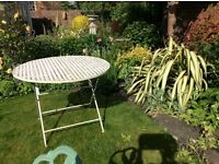 Large Round Painted Metal garden Table