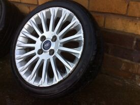 Ford Fiesta mk7 titanium 195 45 16 multi spoke alloy wheel and tyre