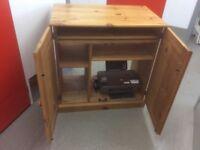Waxed Pine Computer Desk