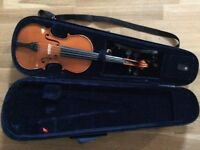 Three quarter (3/4) sized violin for sale. No bow available.