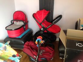 iCandy Peach 3 with maxi-cosi car seat and isofix base.