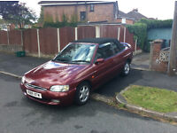 Ford Escort Ghia 1.8 5 speed convertible. only 2 owners from new, 49,910 miles