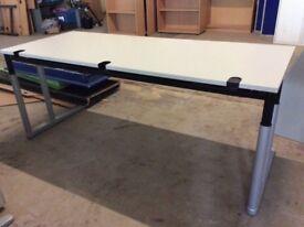 Grey Rectangle Desk