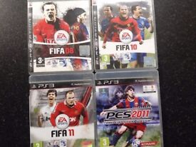 Preowned PS3 Fifa08 Fifa10 Fifa11- PES11 NOW SOLD £2 each