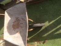 WheeL barrow gardening building solid front tyre old but solid