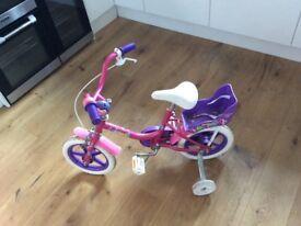 Kids Raleigh Bounce Bike with Stabilisers