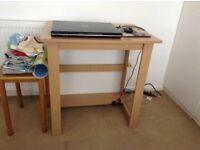 Small desk light wood