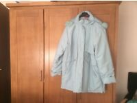 Blue coat with hood size 24