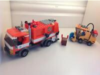 Lego dustbin Lorry with street cleaner