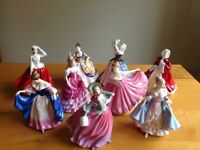 Royal Doulton pretty Ladies range china figurines (9)