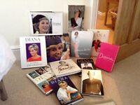 12 Princess Diana hardback books.