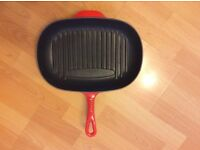Le creuset grill cerise red oval 32cm