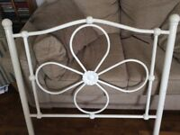 Single white metal bed for sale (from next). Excellent condition