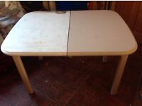 Dinning table seat up to six extends wood ideal shabby chic project bargin £30