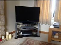 Panasonic TX-32LXD85 Viera TV with Glass and metal stand 800wide x 450mm deep
