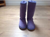 Ladies purple/lilac tall ugg boots size 4
