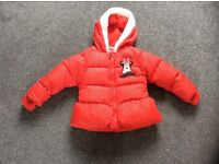 A beautiful girls Minnie Mouse coat in a size 18-24 months in excellent condition.