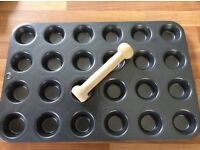 Pampered chef mini muffin tray and shaper
