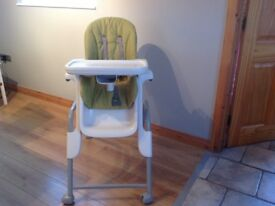 Green Oxo Seedling High Chair.