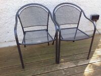 Pair of Dark grey metal Garden Chairs bought from home base. Reduced to £10.