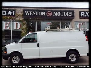 2011 GMC Savana 2500 LADDER RACK*A/C*SHELVING*LIKE NEW!*