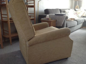 Parker Knoll Recliner Arm Chair - TAN - Mid Century Manual Recliner
