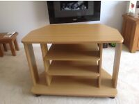 TV/Video/Hi Fi stand, Light Oak finish