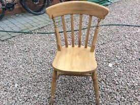 4 Pine dining chairs £40
