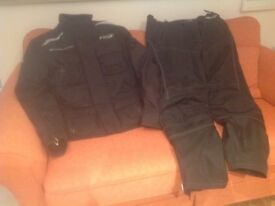 SPADA riding jacket and trousers; RST riding boots