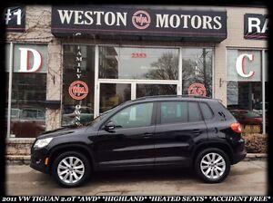 2011 Volkswagen Tiguan *2.OT *AWD *HIGHLAND *HEATED SEATS *ACCID