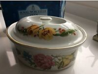 Royal Worcester oval casserole dish