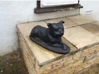 Staffordshire bullterrier garden ornament