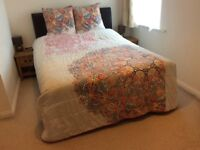 Bedspread with cushions for double bed