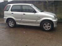 Daihatsu Tetrios 4x4 2002 1.3 immac.cond long test any trial