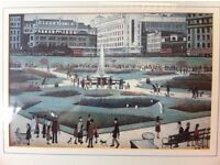 "EXCELLENT CONDITION LS Lowry ""Picadilly Gardens 1954"" framed print oil painting"