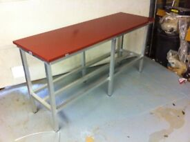 Butchers poly top cutting table