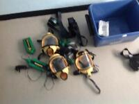 Assorted masks and battery's.