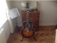 Gibson custom acoustic shop elite ,rare SJ200 vintage sunburst 2001