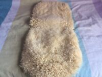 Natural sheepskin pushchair liner