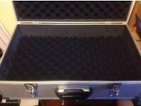 Aluminium type padded case, cameras musical gear etc