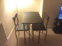 SALE AGREED 2-seater dining table & chairs (collection only)